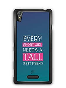YuBingo Girl Needs a Best Friend Designer Mobile Case Back Cover for Sony Xperia T3
