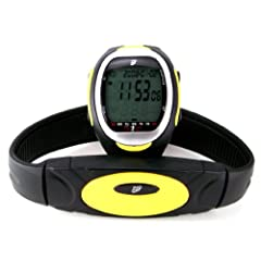 Buy GSI Super Quality Waterproof Heart Rate Monitor Watch With Transmitter Chest Belt - For Exercise, Sports, Running,... by GSI