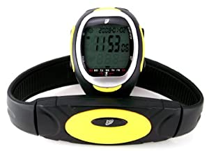 Gsi Super Quality Waterproof Heart Rate Monitor Watch With Transmitter Chest Belt - For Exercise