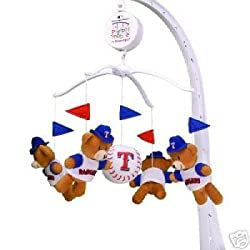 Texas Rangers Baby Crib Team Mascot Mobile MLB Baseball
