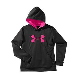 Under Armour Girls' Armour® Fleece Storm Big Logo Hoodie YXL Black