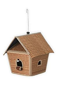 Baskets of Cambodia Hand Woven Tatami Collapsible Bird House (Brown)
