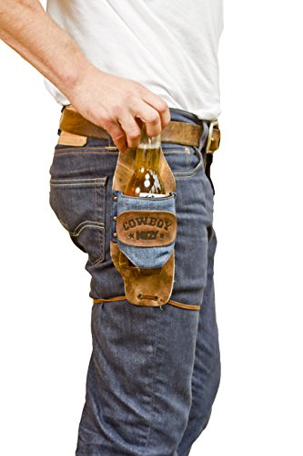 Cowboy Buzy Beer Holster Handmade by Hide & Drink :: Repurposed Denim