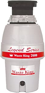 Waste King L-2600 Legend Series 1/2 HP Continuous Feed Operation Garbage Disposal by Waste King