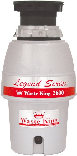 Waste King L-2600 Legend Series 1/2 HP Continuous Feed Operation Garbage Disposal
