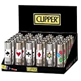 Clipper Micro Metal Poker Lighter 30 PACK