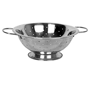 13 Qt. Stainless Steel Colander with Handles *Mirror Finish* by CHEFS