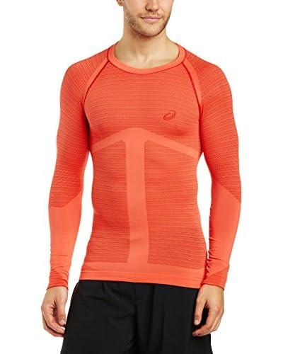 Asics Camiseta Manga Larga Seamless Ls Top Rojo / Naranja
