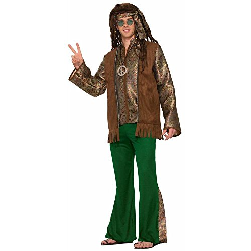 Men's Peace Out Hippie Adult Costume
