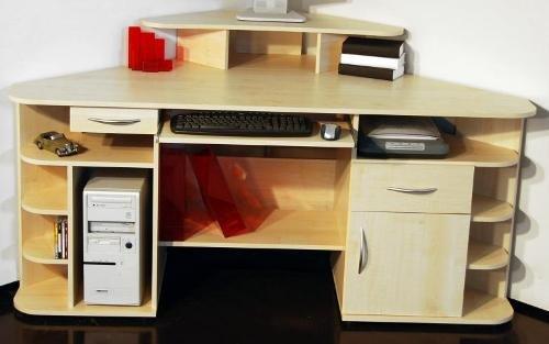416: Ahorn dek. – Bürotisch – PC-Tisch – Computertisch – made in BRD – Eckschreibtisch, ahorn günstig