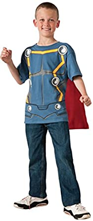 Rubies Marvel Universe Classic Collection Avengers Assemble Thor Costume T-Shirt with Mask, Child Medium