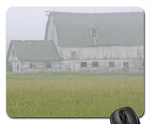 Sagging Barn in Summer Mist, Northern Door County, Wisconsin Mouse Pad, Mousepad