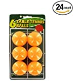 Bulk Buys Set Of Six Table Tennis Balls - Case Of 24