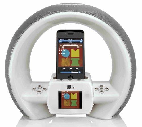 Jbl On Air Wireless Iphone/Ipod Airplay Speaker Dock With Fm Internet Radio & Dual Alarm Clock - White