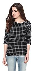 Harpa Women's Body Blouse Shirt (GR2637-Black_Small)