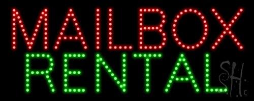"Mailbox Rental Led Sign 8"" Tall X 20"" Wide X 1"" Deep"
