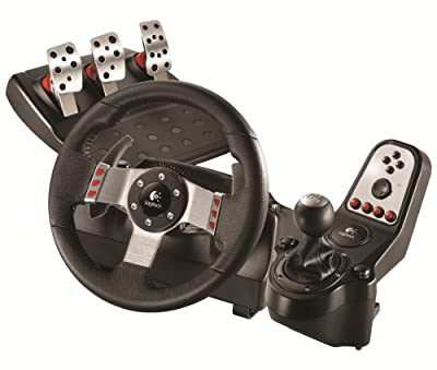 Logitech G27 Force Feedback Wheel and Pedal Set (PS3/PC DVD) by Logitech