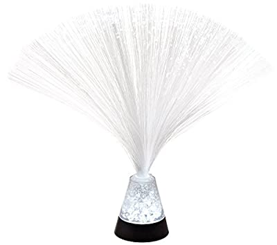 "Fortune Products FOL-325CRUSH-12 Crystal Crushed Fiber Optic LED Lamp, 3"" Base Width x 3.25"" Base Height, 9.75"" Tall (Pack of 12)"