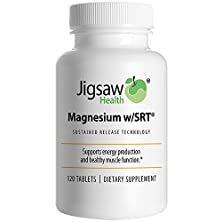 buy Jigsaw Magnesium W/Srt - Premium, Organic, Slow Release Magnesium Supplement - Active, Bioavailable Magnesium Malate Tablets With B-Vitamin Co-Factors, 120 Tablets