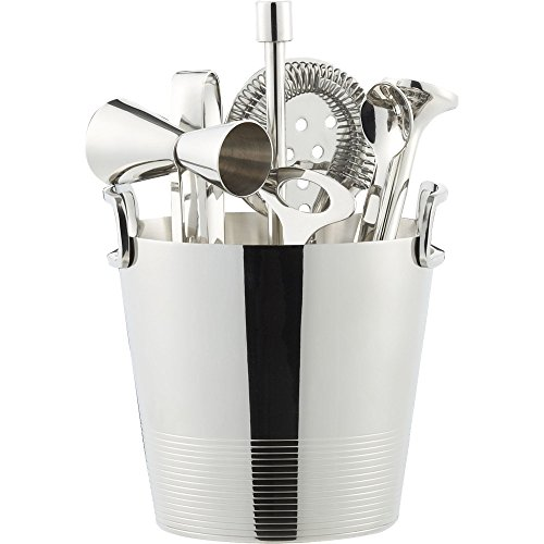 Crate And Barrel Gatsby Bar Tools With Ice Bucket