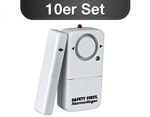10er SET Fensteralarm WEIß Fenstersicherung Türsicherung Einbruchschutz Safety First  Überprüfung und Beschreibung