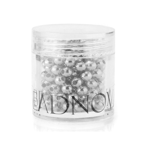 Beadnova 4mm Silver Plated Smooth Brass Metal Round Beads 200 pcs with Container (Ebay Sterling Silver compare prices)