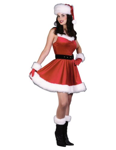 Santa Ms Baby Dress Sm Or Md Adult Womens Christmas Costume