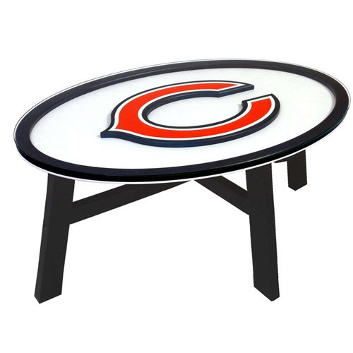 Fan Creations Chicago Bears Logo Coffee Table