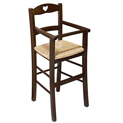 Sedia sgabello seggiolone sediolone bimbo legno massello paglia ristorante F2060 PDF