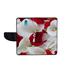 KolorEdge Printed Flip Cover For HTC Desire 526G Plus -Multicolor (50KeMLogo10916HTC526GPlus)