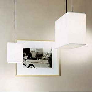 Rex 1 Light Mini Pendant Shade: White Linen