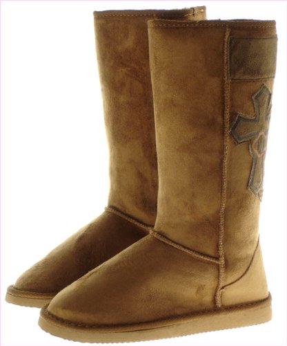Couture Discount Damenstiefel Fell Boots, beige (ST49R), Gr. 41