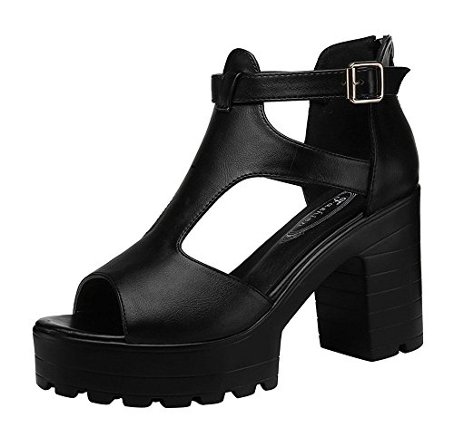 Christmas-PerfectAZ-Women-Fashion-Casual-Peep-Toe-T-Strap-Ankle-Strap-Buckle-Breathable-Platform-Chunky-High-Heel-Pumps-Sandals