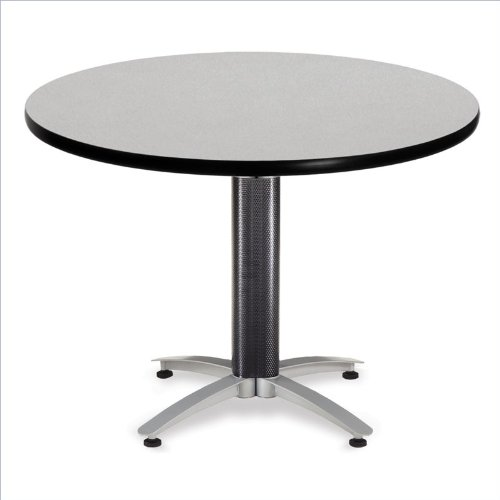 Ofm Kmt42rd Grynb Round Multi Purpose Table Metal Mesh