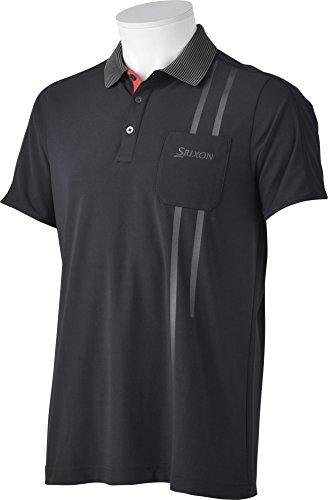 (スリクソン)SRIXON メンズゴルフ 半袖シャツ SRM1676S  BLKブラック LL