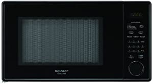 Sharp R-309YK R309 Series 1.1 Cubic Feet 1000-watt Microwave Oven, Mid-Size, Smooth Black