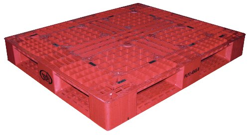 Vestil PLP2-4840-RED Red Polyethylene Pallet with 4 Way Entry, 6600 lbs Capacity, 40