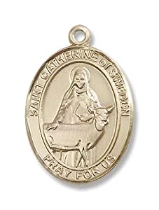 14kt Gold St. Catherine of Sweden Medal