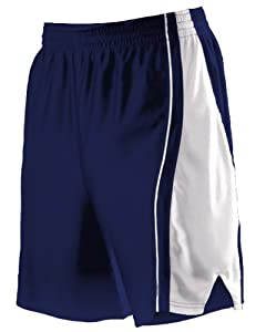 Buy Alleson 547PY Youth Dazzle Basketball Shorts NA WH - NAVY WHITE YS