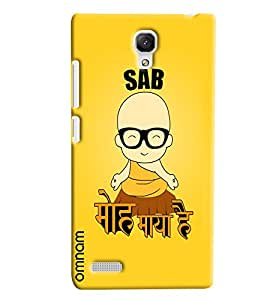 Omnam quote printed sab moh maya hai with yellow background for Xiaomi Redmi Note Prime