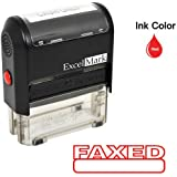 FAXED Self Inking Rubber Stamp - Red Ink (42A1539WEB-R)