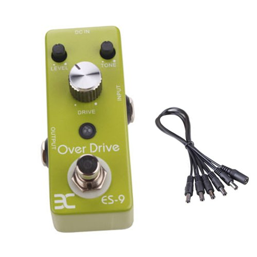 Global Sale Eno Es-9 Mini Distortion Guitar Effects Pedal Stompbox Effect Pendal Over Drive Pedal+5 Way Daisy Chain Cable