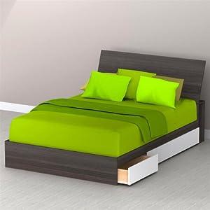 Allure Storage Platform Bed from Megalak Finition Inc