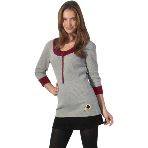 Touch By Alyssa Milano Washington Redskins Women's Thermal Tunic Top Extra Small at Amazon.com