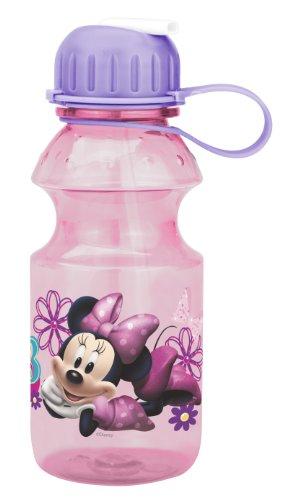 Planet Zak! Minnie Mouse Tritan Water Bottle, 14-Ounce