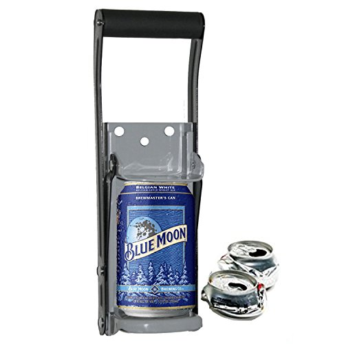 THE EASY #1 CAN CRUSHER - Heavy Duty 16oz Pull Aluminum Soda Beer Recycling Compactor (Best Can Crusher compare prices)