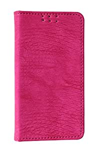 D.rD Artificial Leather Mobile Flip Cover For MICROMAX CANVAS COLOUR A120 (Pink)