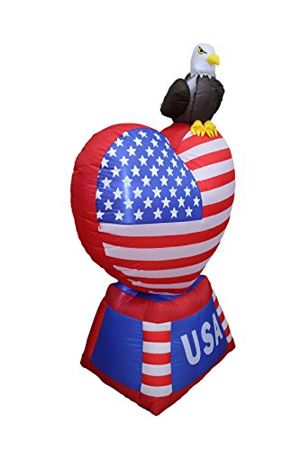 5 foot tall patriotic independence day inflatable love for Eagle decorations home