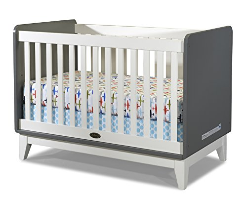 Zutano Tivoli Convertible Crib, Cloud/White - 1