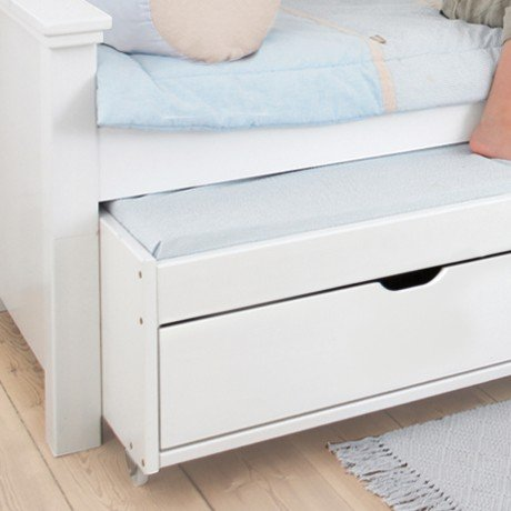Alfred & Compagnie - Lit 90x200 avec lit gigogne et tiroirs